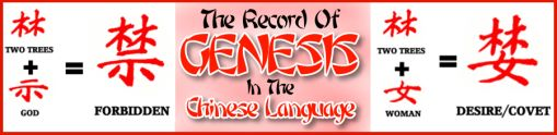 The Record Of Genesis In The Chinese Language
